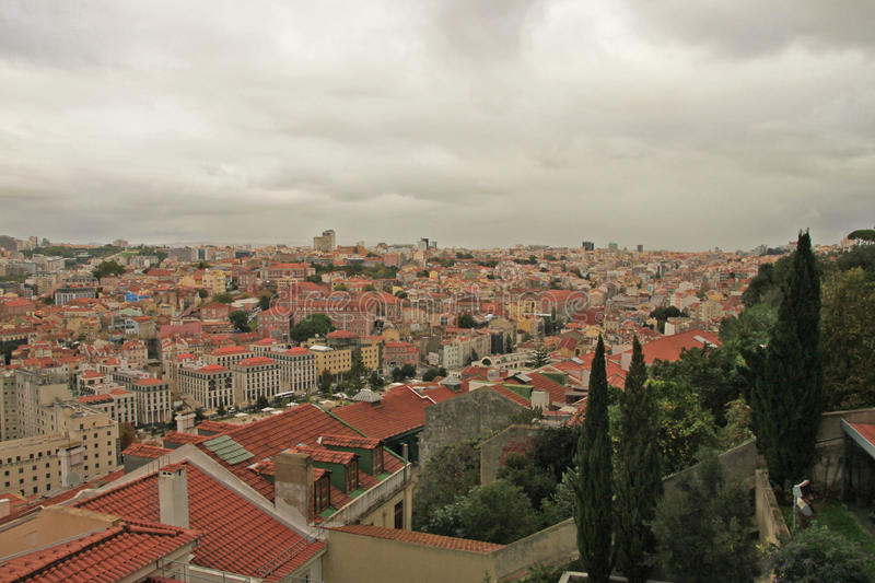 Download Panoramic view of Lisbon stock photo. Image of typical - 37346970