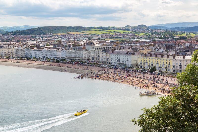 Panoramic view of llandudno in Wales royalty free stock photos