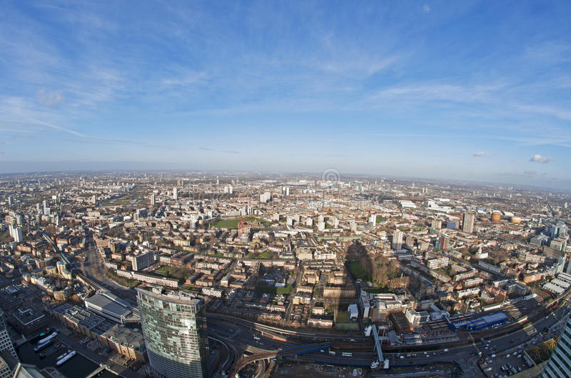 Panoramic View of London stock photos