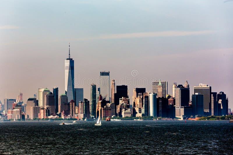 Panoramic view of Lower Manhattan, New York City, USA stock images