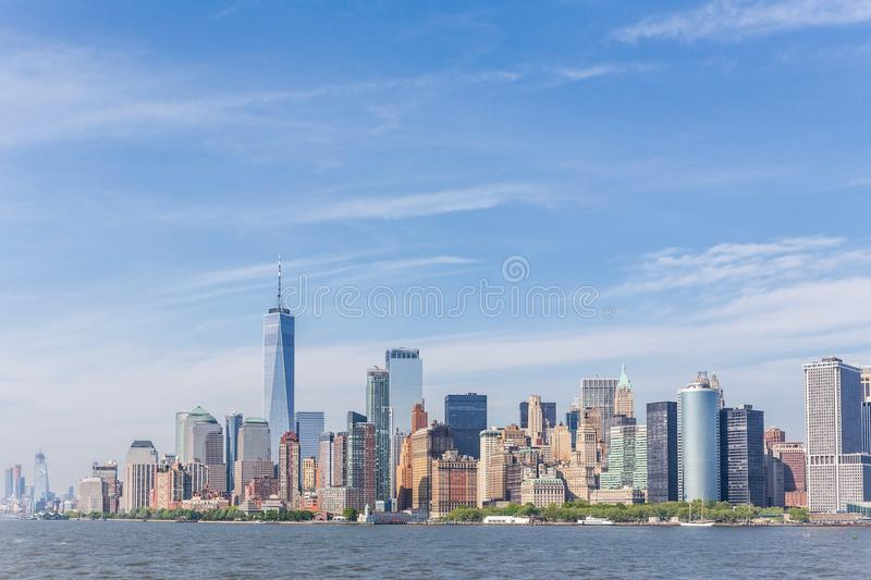 Panoramic view of Lower Manhattan, New York City, USA royalty free stock images