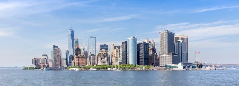 Panoramic view of Lower Manhattan, New York City, USA stock photography