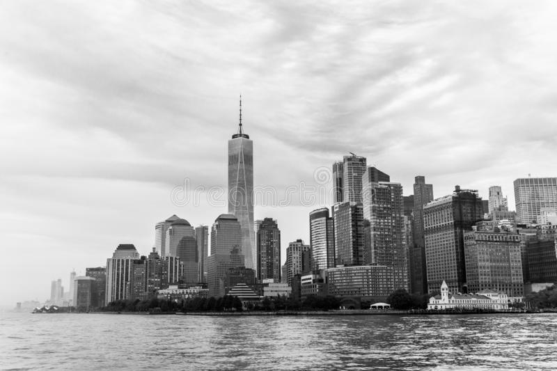 Panoramic view of Lower Manhattan, New York City, USA royalty free stock photography