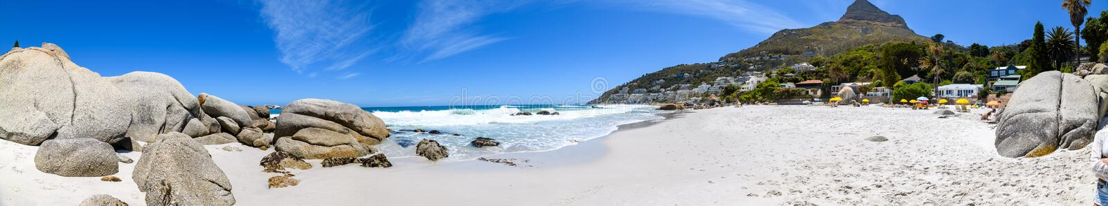 A panoramic view looking down on the beautiful white sand beaches of clifton in the cape town area of south africa.7 stock photos