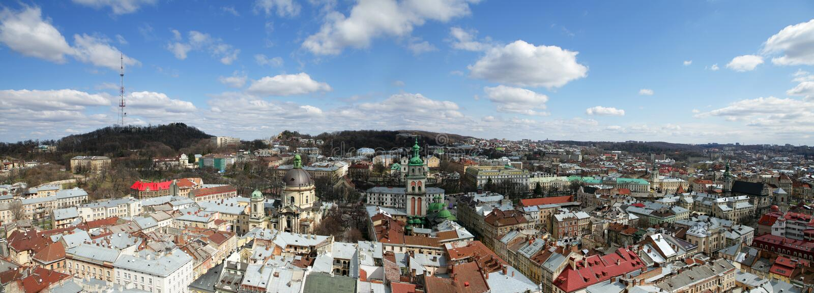 Download Panoramic View Of Lviv, Ukraine Royalty Free Stock Image - Image: 24314916