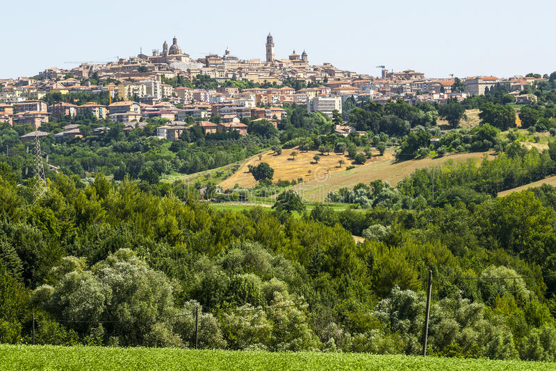 Download Panoramic view of Macerata stock image. Image of cityscape - 29032881