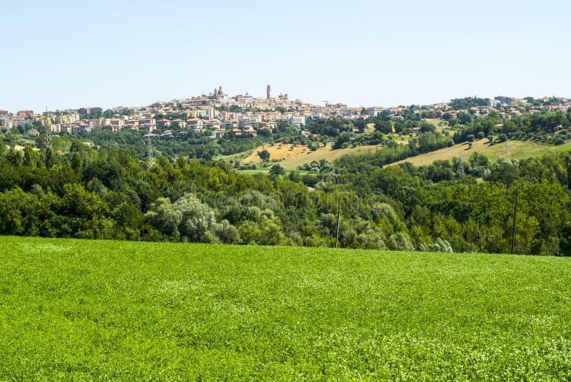 Panoramic View Of Macerata Royalty Free Stock Photos
