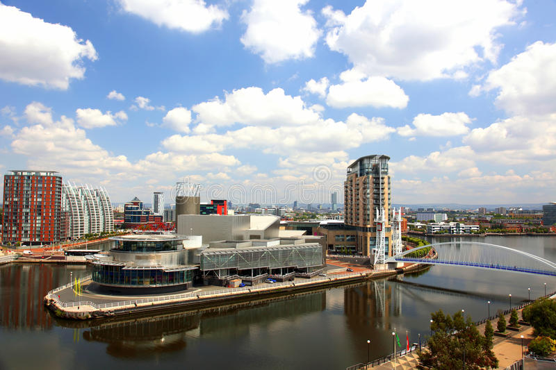 Panoramic view of Manchester, UK royalty free stock photography