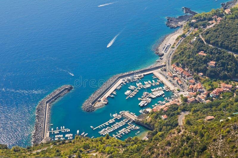 Panoramic view of Maratea. Basilicata. Italy. stock photo