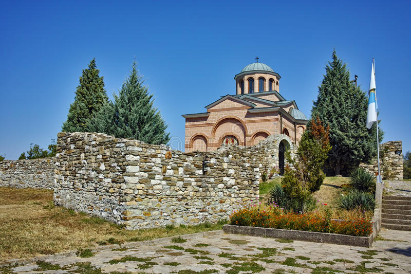 Panoramic view of Medieval Monastery St. John the Baptist, Bulgaria. Panoramic view of Medieval Monastery St. John the Baptist, Kardzhali, Bulgaria royalty free stock images
