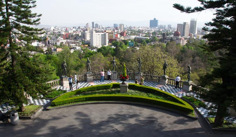 Panoramic view of Mexico City from the Chapultepec Castle royalty free stock image