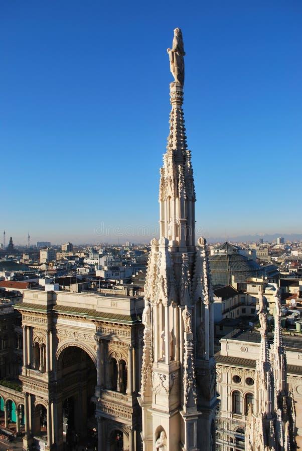 Panoramic view of Milan stock image