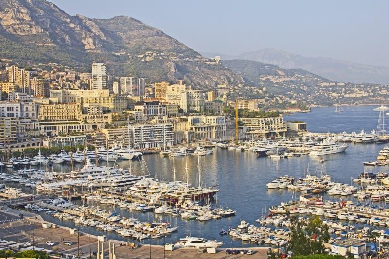 Panoramic view of Monaco stock image