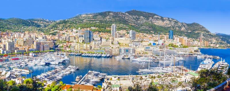 Panoramic view of Monaco stock images