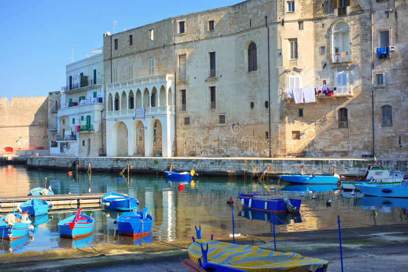 Panoramic view of Monopoli. Puglia. Italy. View of Monopoli. Puglia. Italy royalty free stock photo