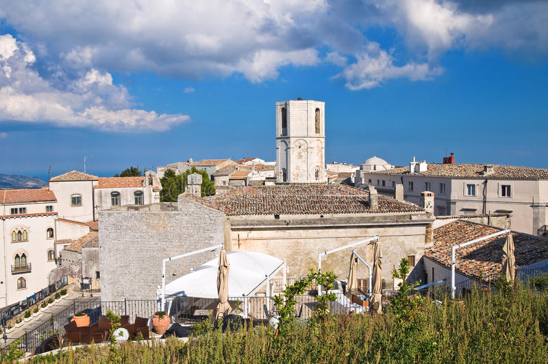 Panoramic View Of Monte Sant Angelo. Puglia. Italy. Stock Photography