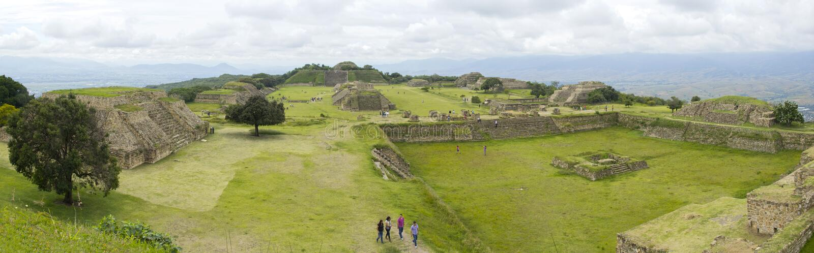 Panoramic view of Montealban royalty free stock photography