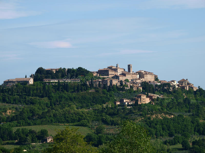 Panoramic View Of Montepulciano stock photo