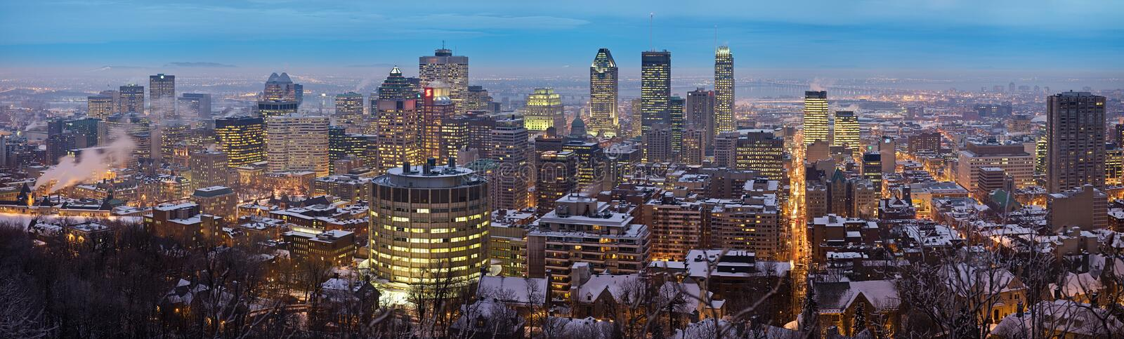 Panoramic view of the Montreal skyline royalty free stock images