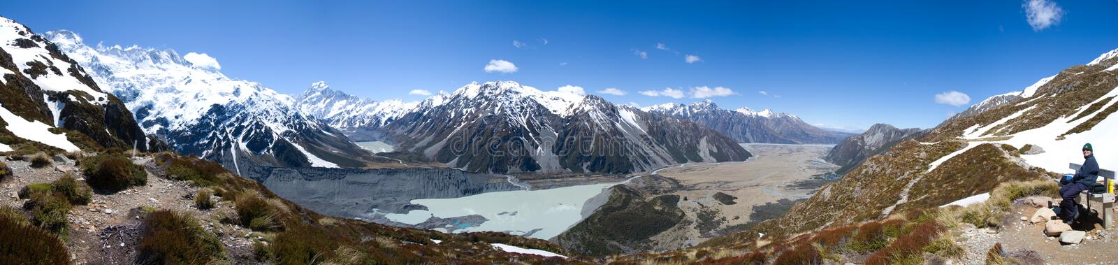 Download Panoramic View Of Mount Cook Stock Image - Image: 22674653