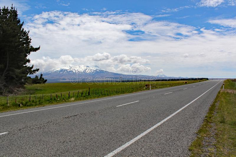 Panoramic view of Mount Ngauruhoe in Tongariro National Park. It featured as Mount doom in the Lord of the Rings films stock images