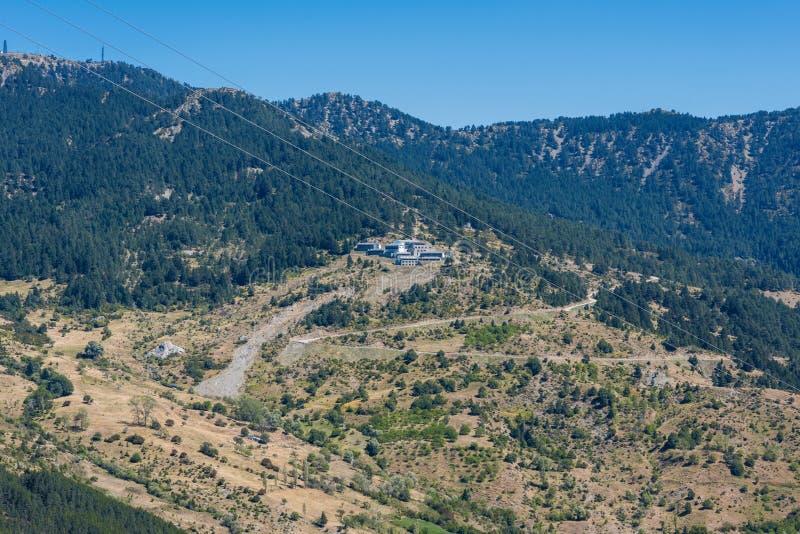 Panoramic view on the mountain village royalty free stock photos