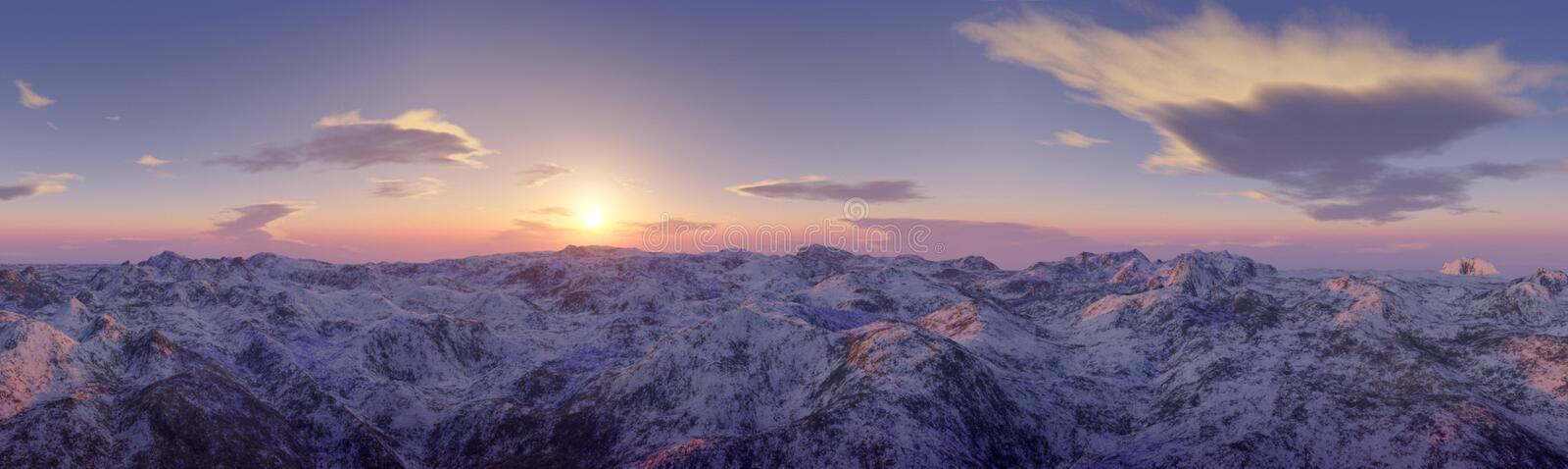 Panoramic view of mountains landscape stock photos