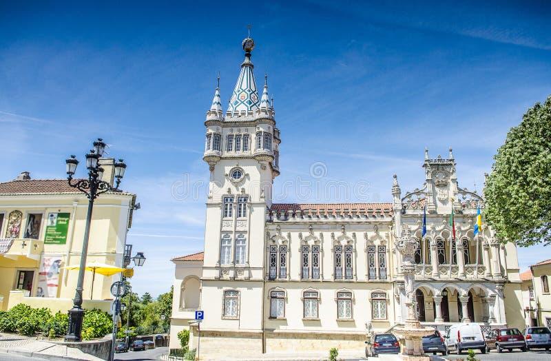 Panoramic view of Municipality of Sintra (Camara Municipal de Sintra), Portugal.  stock photo