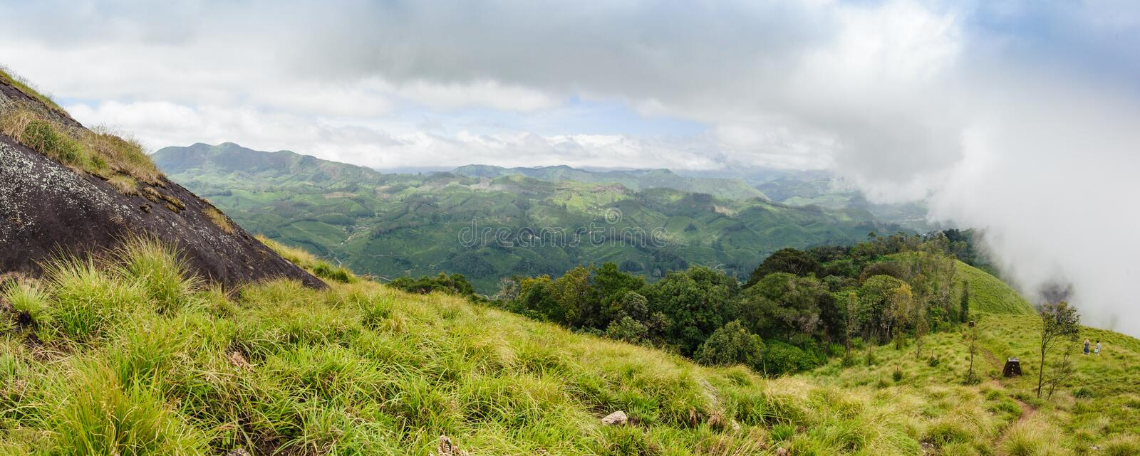 Panoramic view in Munnar in western Ghats, Kerala stock photos