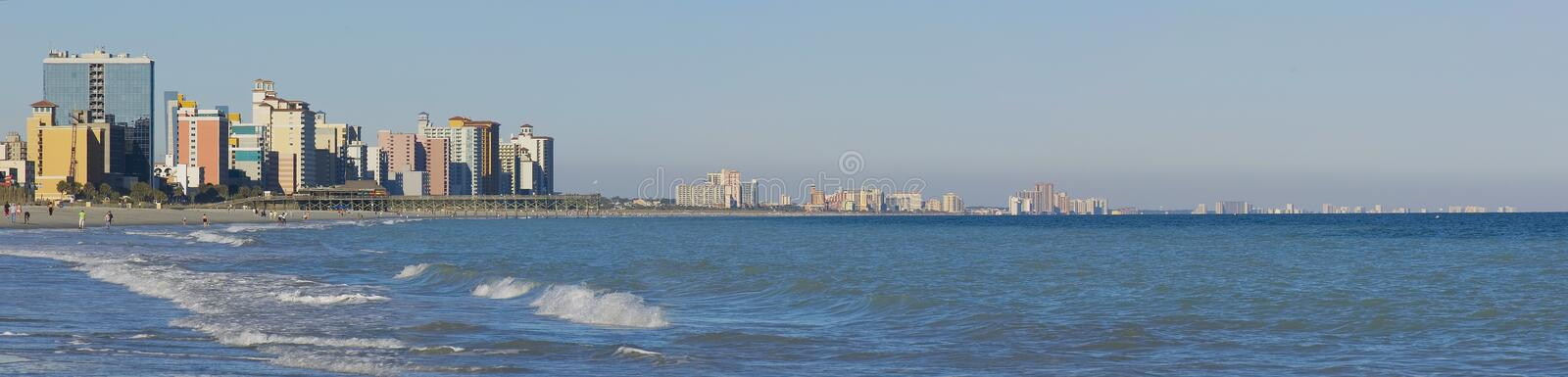 Panoramic view of Myrtle Beach. Coast in South Carolina royalty free stock photo