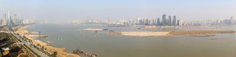 Panoramic view of Nanchang, the capital of Jianxi, at noon stock photography
