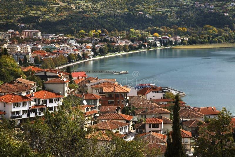 Panoramic view of Ohrid. Macedonia stock photo