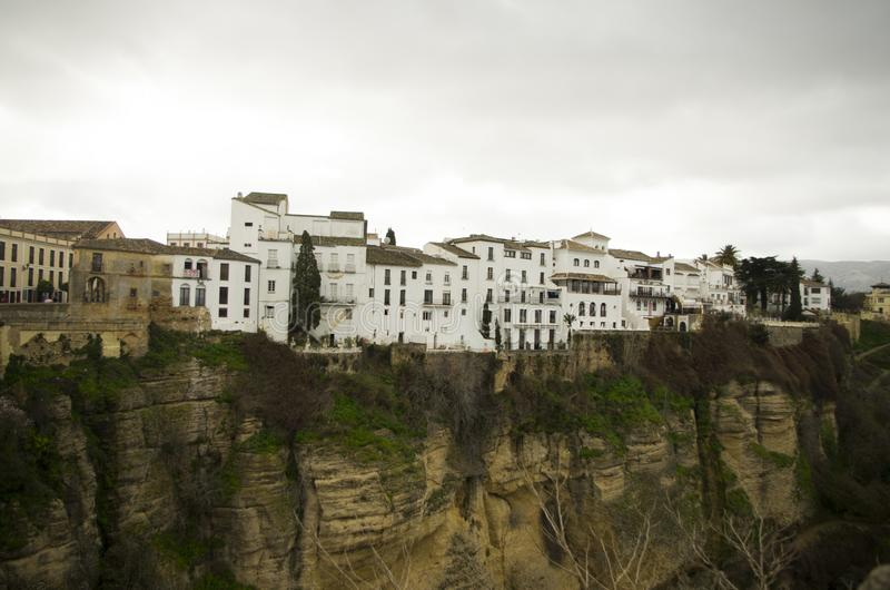 Old city of Ronda in Andalusia, Spain royalty free stock photo