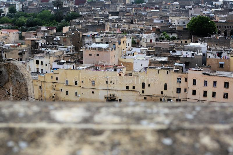 Fez, Morocco, panoramic view of ancient city royalty free stock images