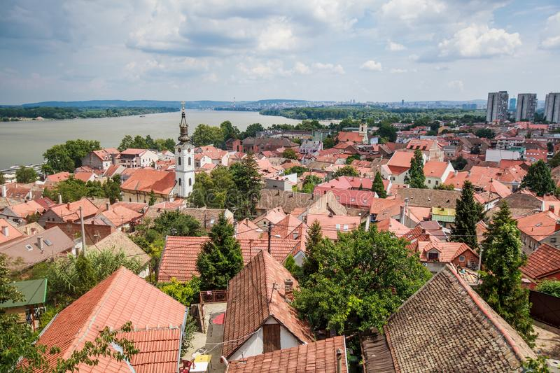 Panoramic view of Zemun Belgrade Serbia royalty free stock photography
