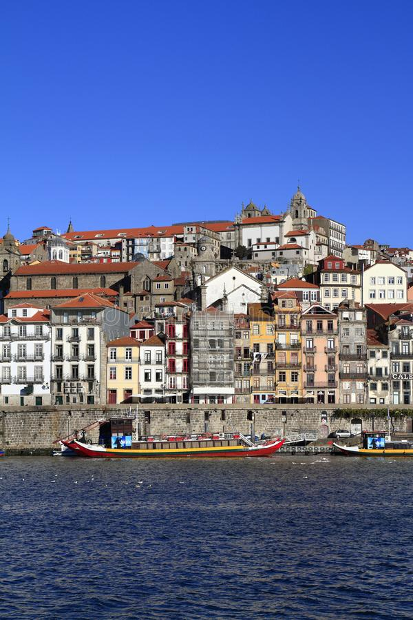 Panoramic view of old town of Porto, Portugal royalty free stock photos