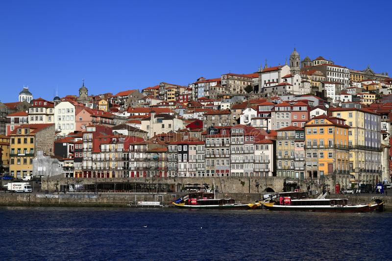 Panoramic view of old town of Porto, Portugal royalty free stock images