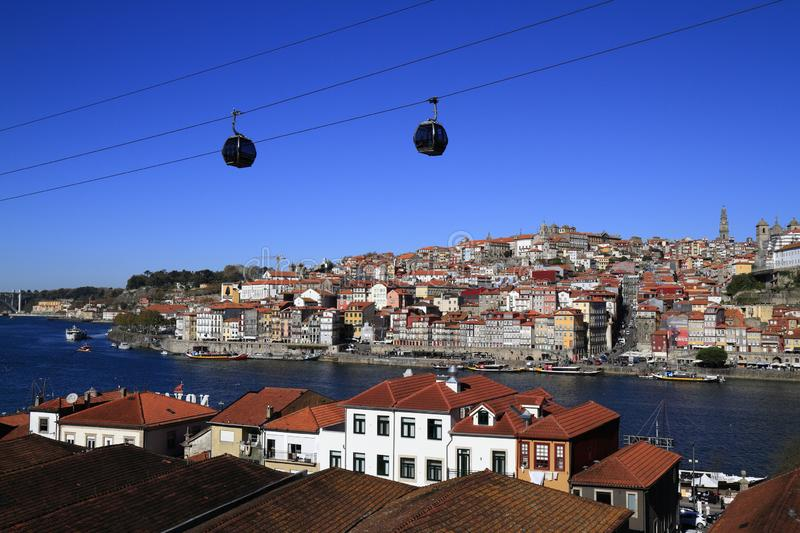 Panoramic view of old town of Porto, Portugal stock photos