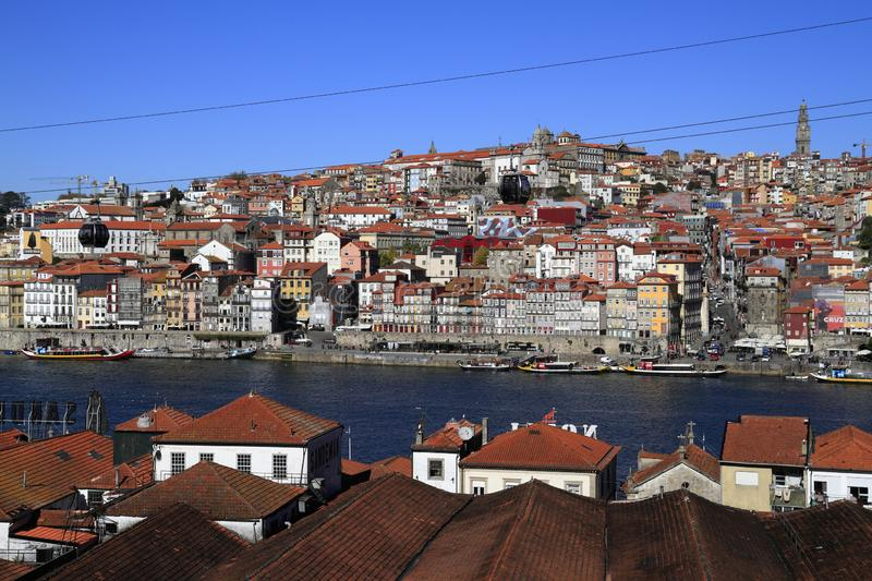 Panoramic view of old town of Porto, Portugal royalty free stock photo