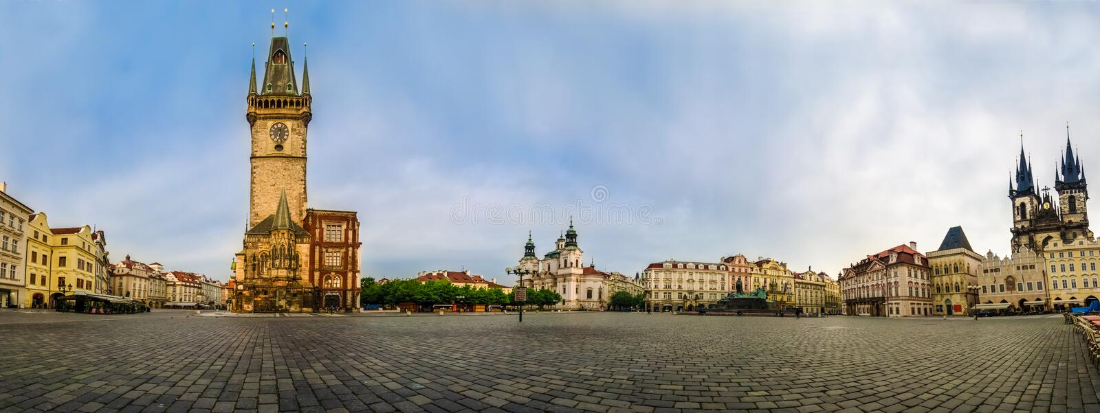 Panoramic view of Old Town Square,Praha stock images