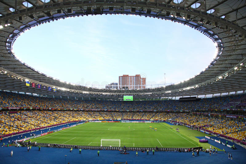 Download Panoramic View Of Olympic Stadium In Kyiv Editorial Photo - Image of fans, interior: 25241101