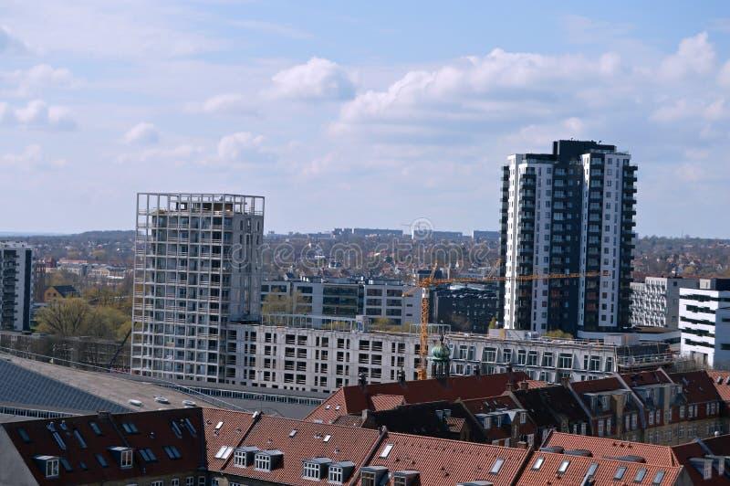 Panoramic view over Aarhus in Danmark. Travel to a Europe under spring, Aarhus in a Denmark.....Panoramic view over Aarhus in Danmark stock photos