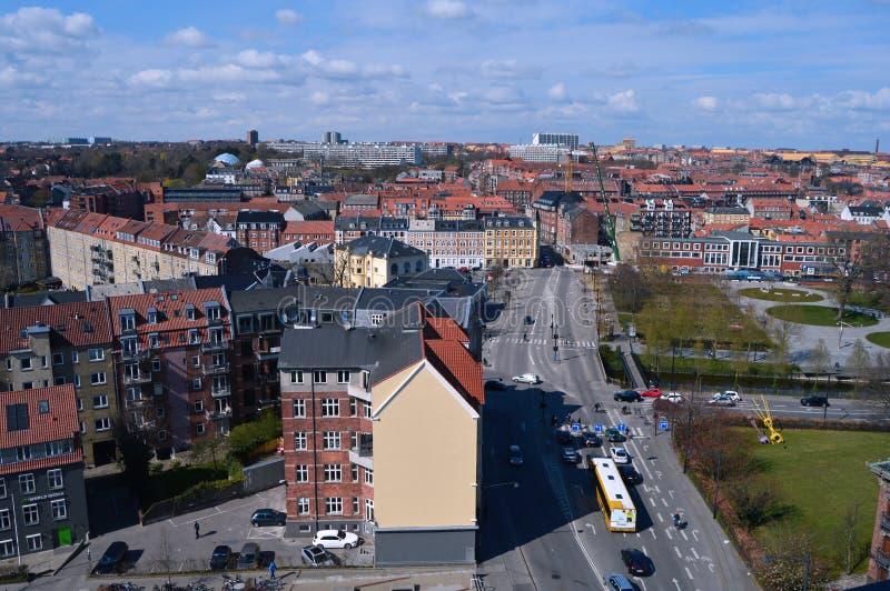Panoramic view over Aarhus in Danmark. Travel to a Europe under spring, Aarhus in a Denmark.....Panoramic view over Aarhus in Danmark stock image