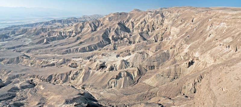 Panoramic view over arava vally Judaean Desert near eilat, israel.  royalty free stock image