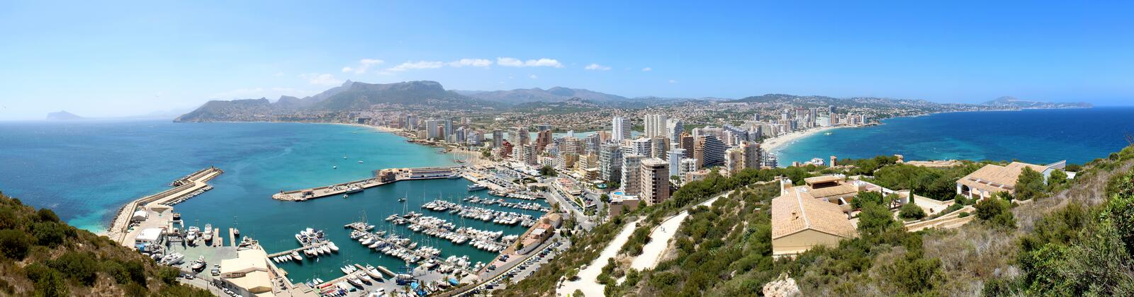 Download Panoramic View Over Calp (Spain) Royalty Free Stock Images - Image: 32085019