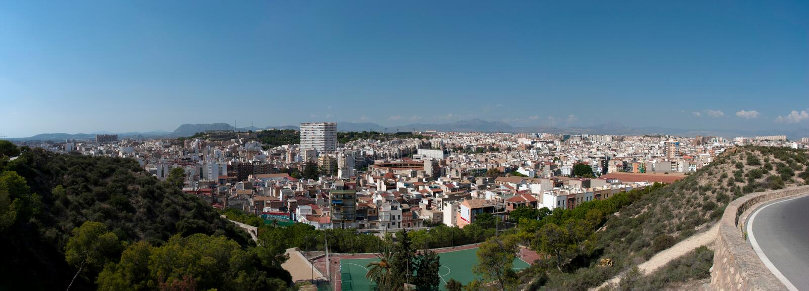 Panoramic view over Alicante, Spain stock image