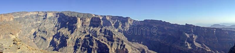 Panoramic of Jebel Shams - Sultanate of Oman royalty free stock photos
