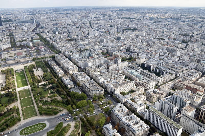 Panoramic View Over Paris Royalty Free Stock Photography