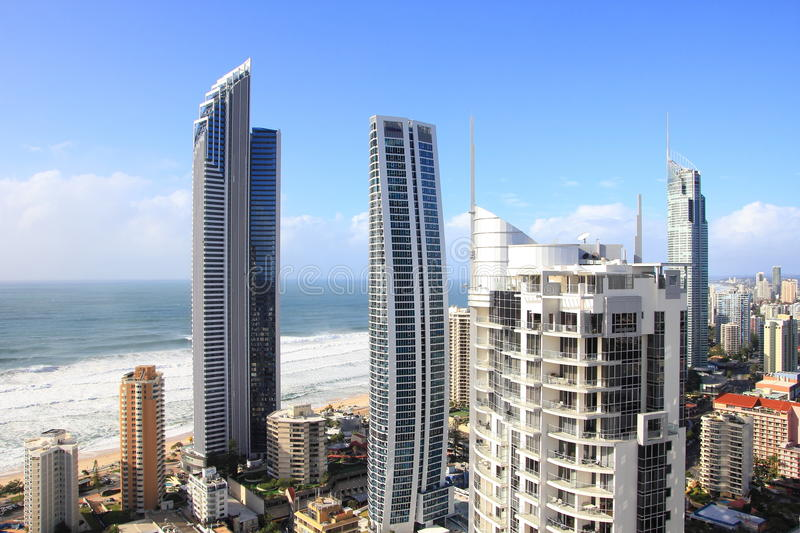 Download Modern Tower Buildings Beachside Aerial Editorial Photography - Image: 25345652