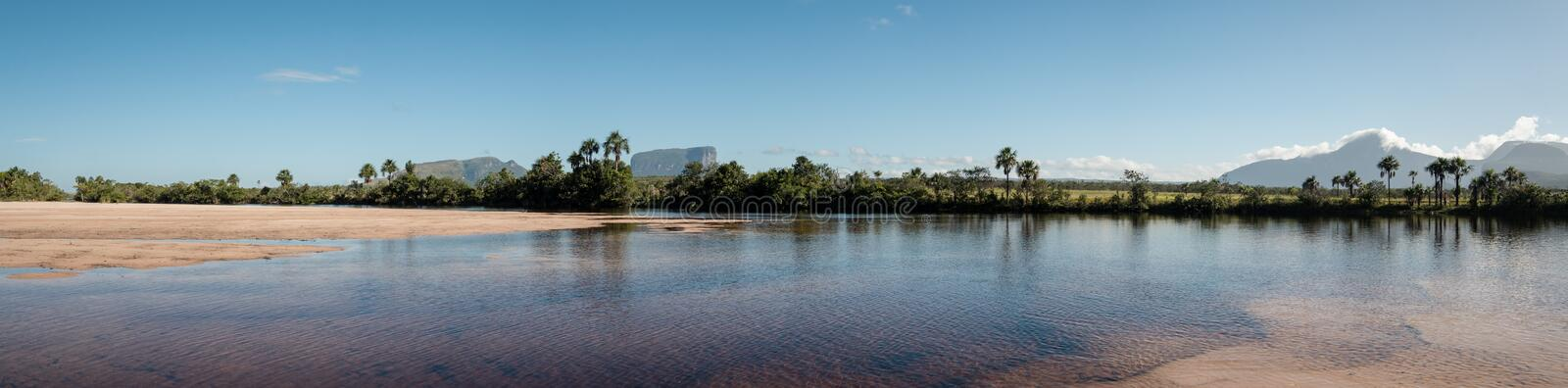 Panoramic view over Ucaima, Canaima, Venezuela stock image